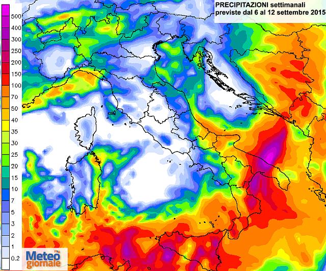 pericolo alluvione sud italia