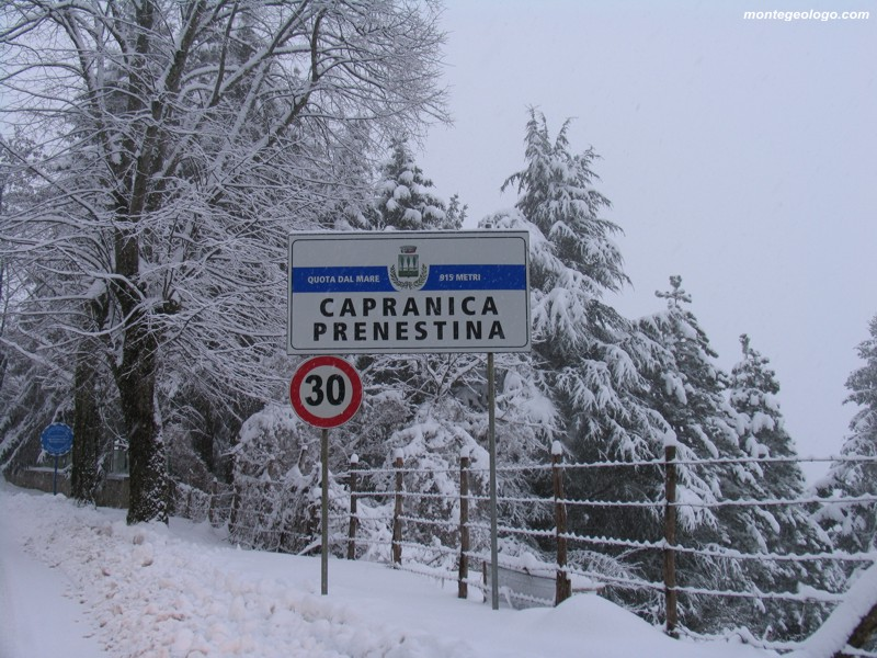 Prima neve Monti Prenestini