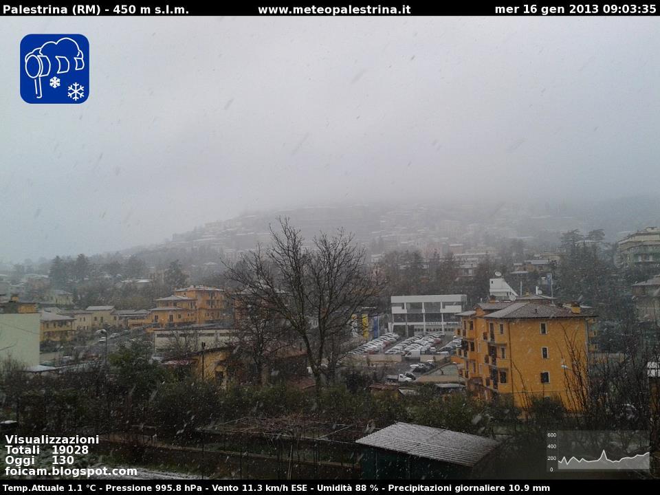 Neve a Palestrina